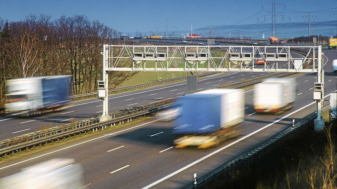 Berlin Toll Collect, Autobahn, Mautbrücke