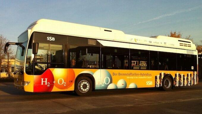 CitaroFuelCell, Brennstoffzellen-Hybridbus, Hybrid, Mercedes-Benz, Stuttgart, SSB