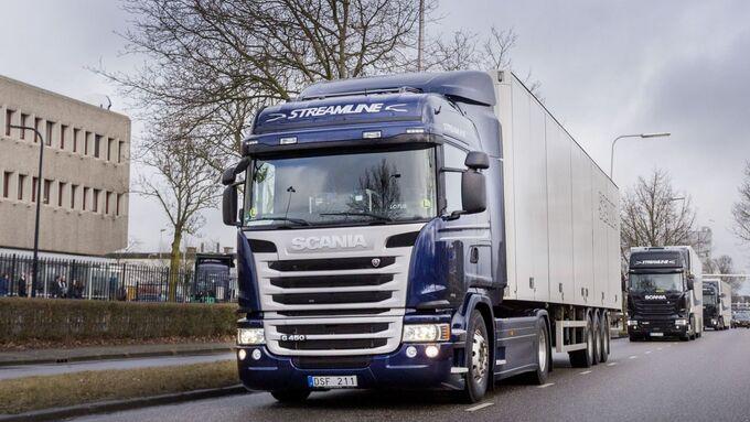 Demonstratie zelfrijdende vrachtwagen