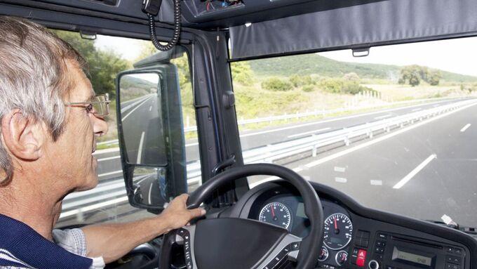 Fahrer, Lkw, Autobahn
