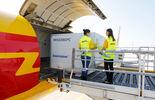 Flugzeug, Pharmazeutika, Transport, DHL, Luftfracht