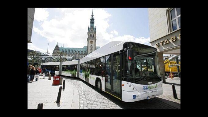 Hamburg setzt auf Dieselhybridbusse