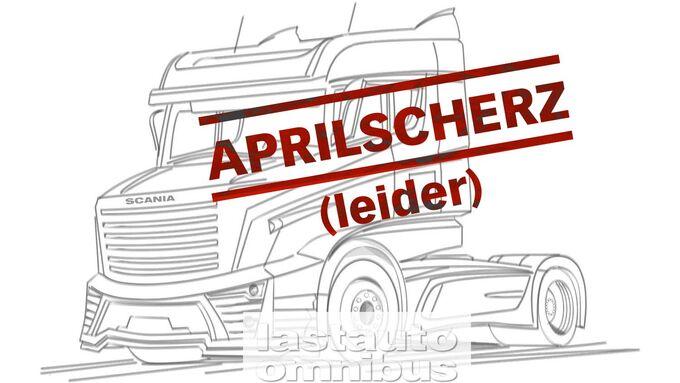 Leider war die Meldung vom neuen Scania-Hauber nur der Aprilscherz aus unserer Redaktion. Aber schön wärs dennoch.
