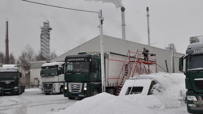 Schneeräumanlage, Lkw, Fahrer, Schnee