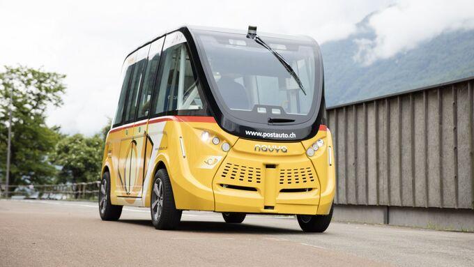 Smartshuttle, aitonomes Fahren, Kleinbus, elektrisch, Schweiz