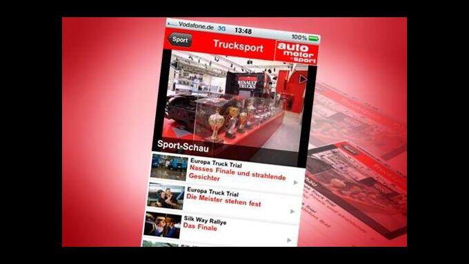Trucksport-Nachrichten in der ams-App