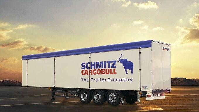 schmitz cargobull, trailer, sonnenuntergang
