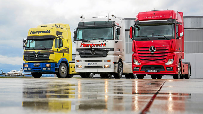 Drei Generationen Mercedes-Lkw, Actros, Hamprecht, 1853