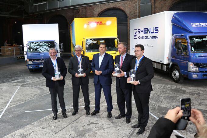 Fuso, eCanter, Berlin, DHL, DB Schenker, Dachser, Rhenus