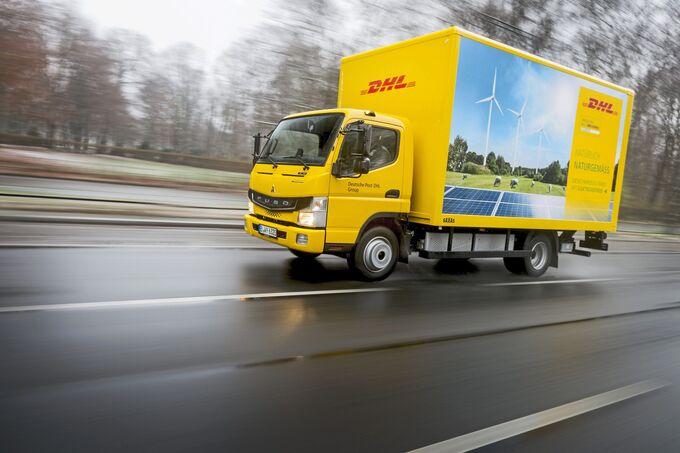 Fuso eCanter Berlin Rhenus Deutsche Post DHL Dachser DB Schenker E-Fuso