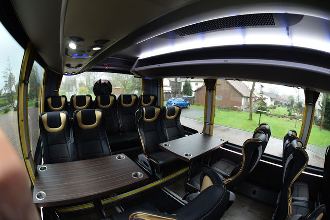 INDCAR NEXT L9 auf DAF Chassis, Innenraum, Probus Event in Wagenfeld, April 2018