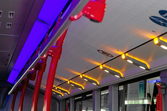 Mercedes Citaro Euro 6, Innenbeleuchtung