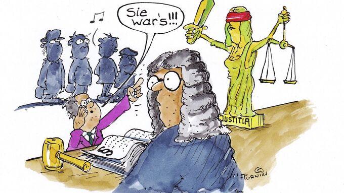 Recht Cartoon