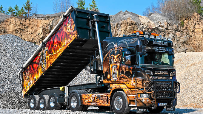 Scania, gefallene Engel, Martin Transporte, Super