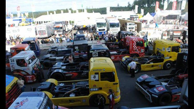 Truck-Grand-Prix, Truck Race, Lkw, Parc fermé