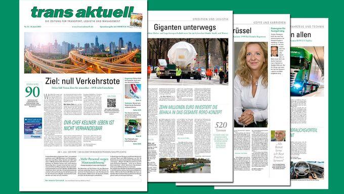 trans aktuell Relaunch Juni 2015, erste Ausgabe 13